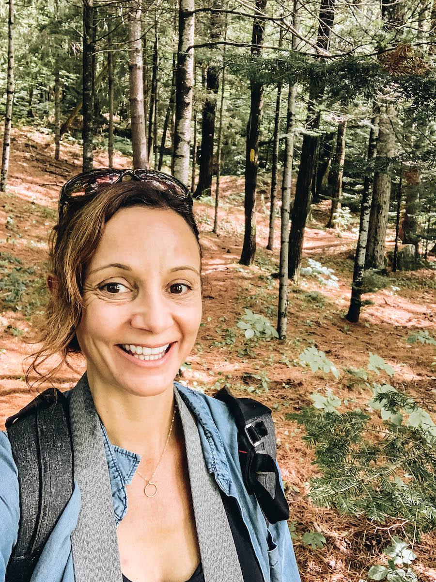 Annette White Hiking In Rangeley Maine