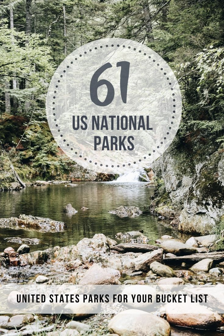The List of US National Parks (Arranged by State)
