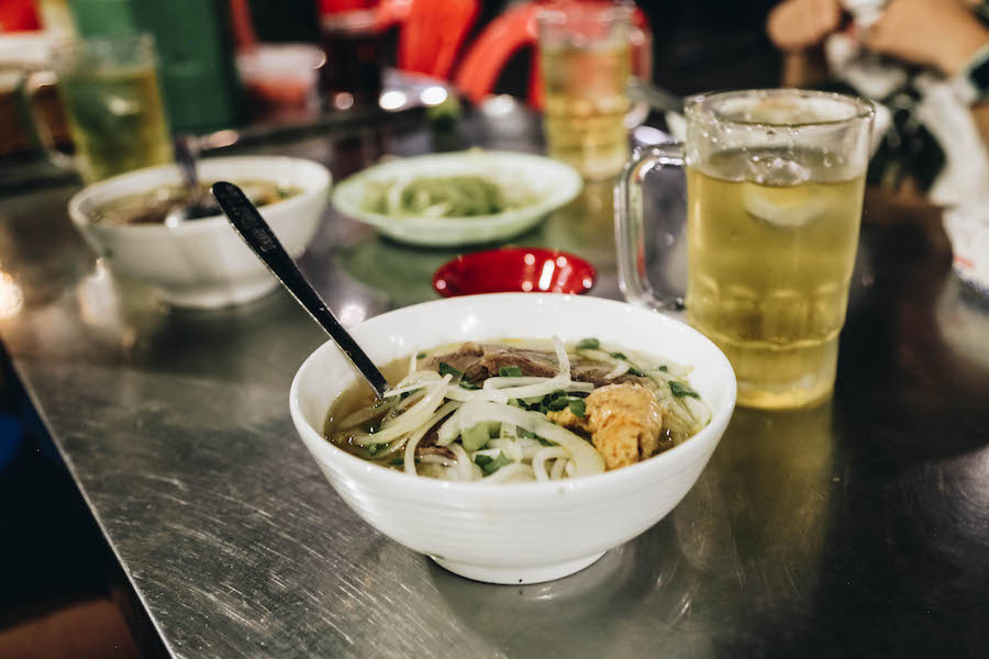 A bowl of Pho Street Food in Ho Chi Minh City
