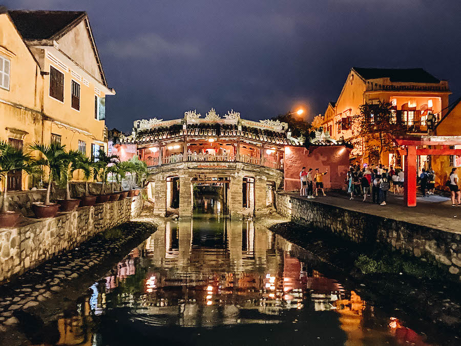 Hoi An's Japanese Covered Bridge at Night