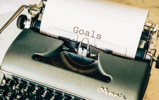 Long Term Goals Typewriter