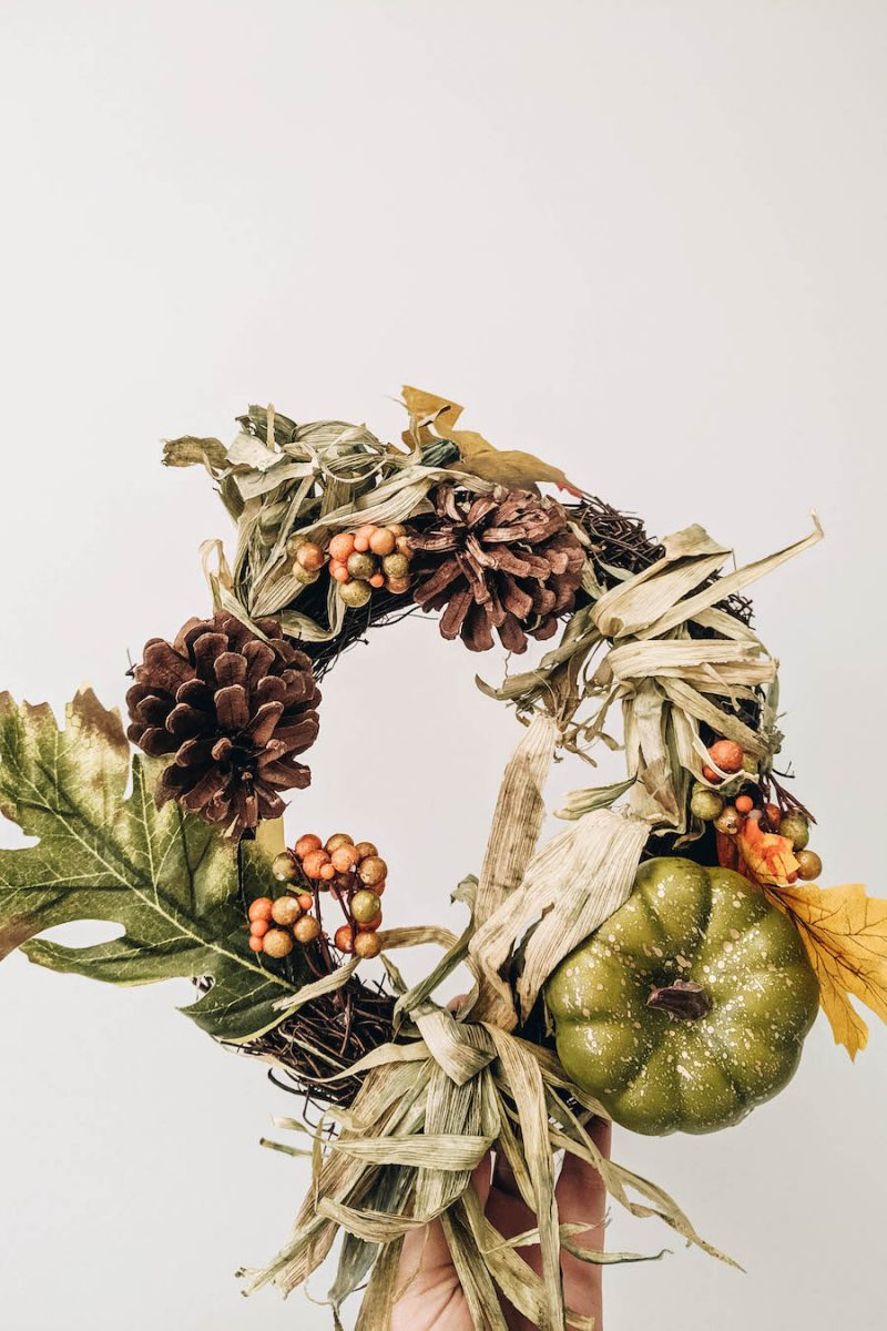 Fun autumn wreath for the door