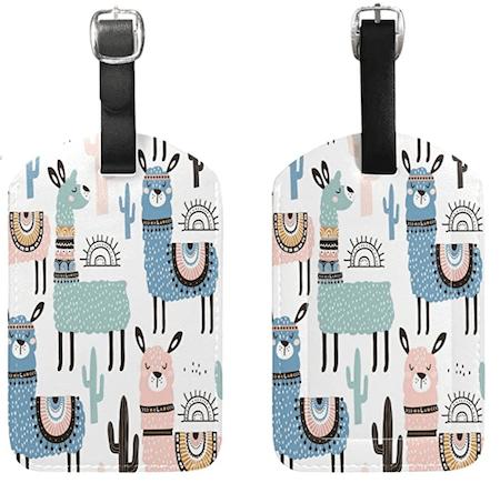 Watercolor Alpaca Luggage Tag