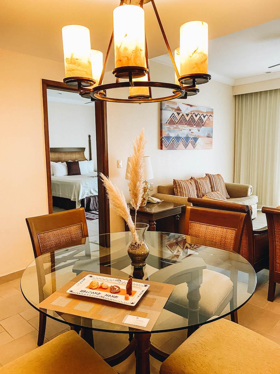 The rooms at the Villa del Palmar hotel