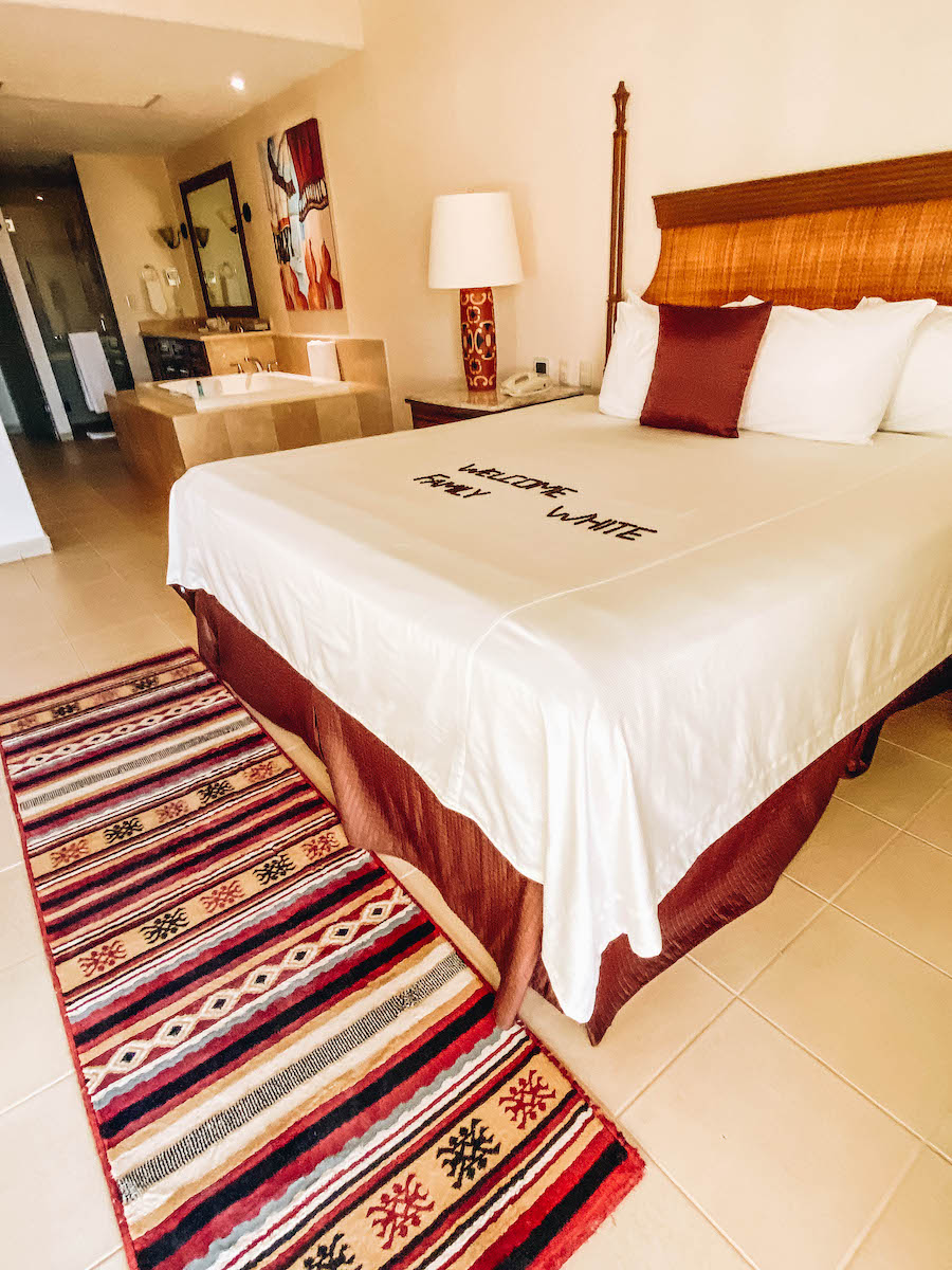 The rooms at the Villa del Palmar hotel