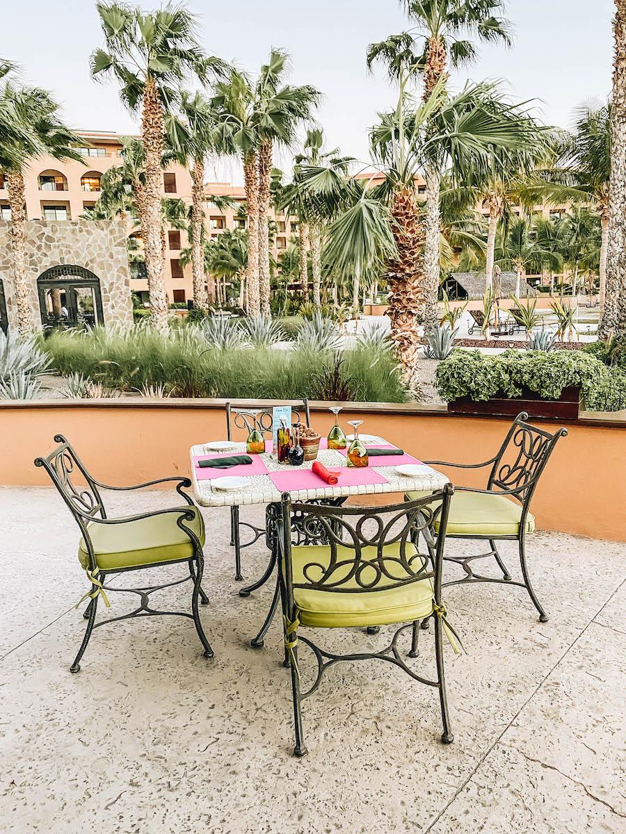 The restaurants at the Loreto Hotel