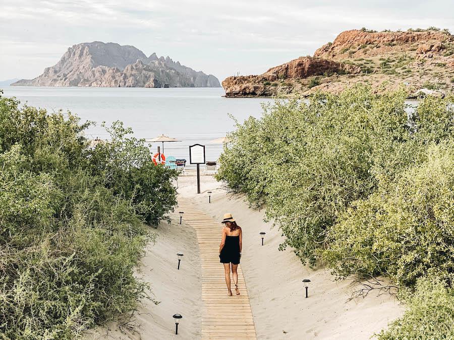 The hotel beach in Loreto