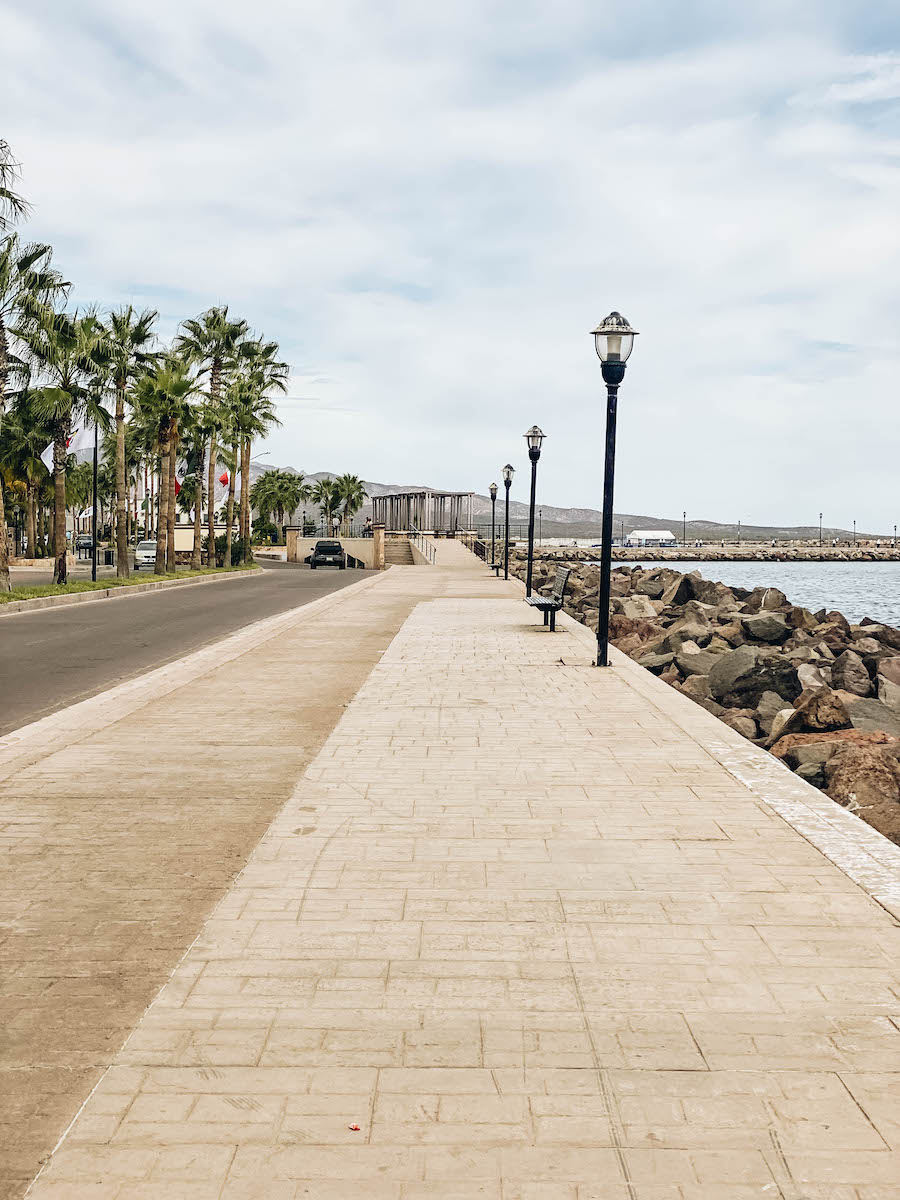 The malecon in Loreto