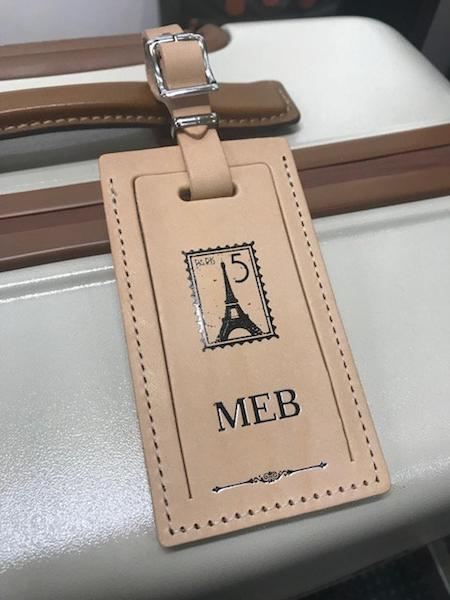 Paris Theme Personalized Luggage Tag