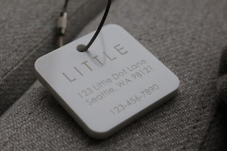 Engraved Square Luggage Tag