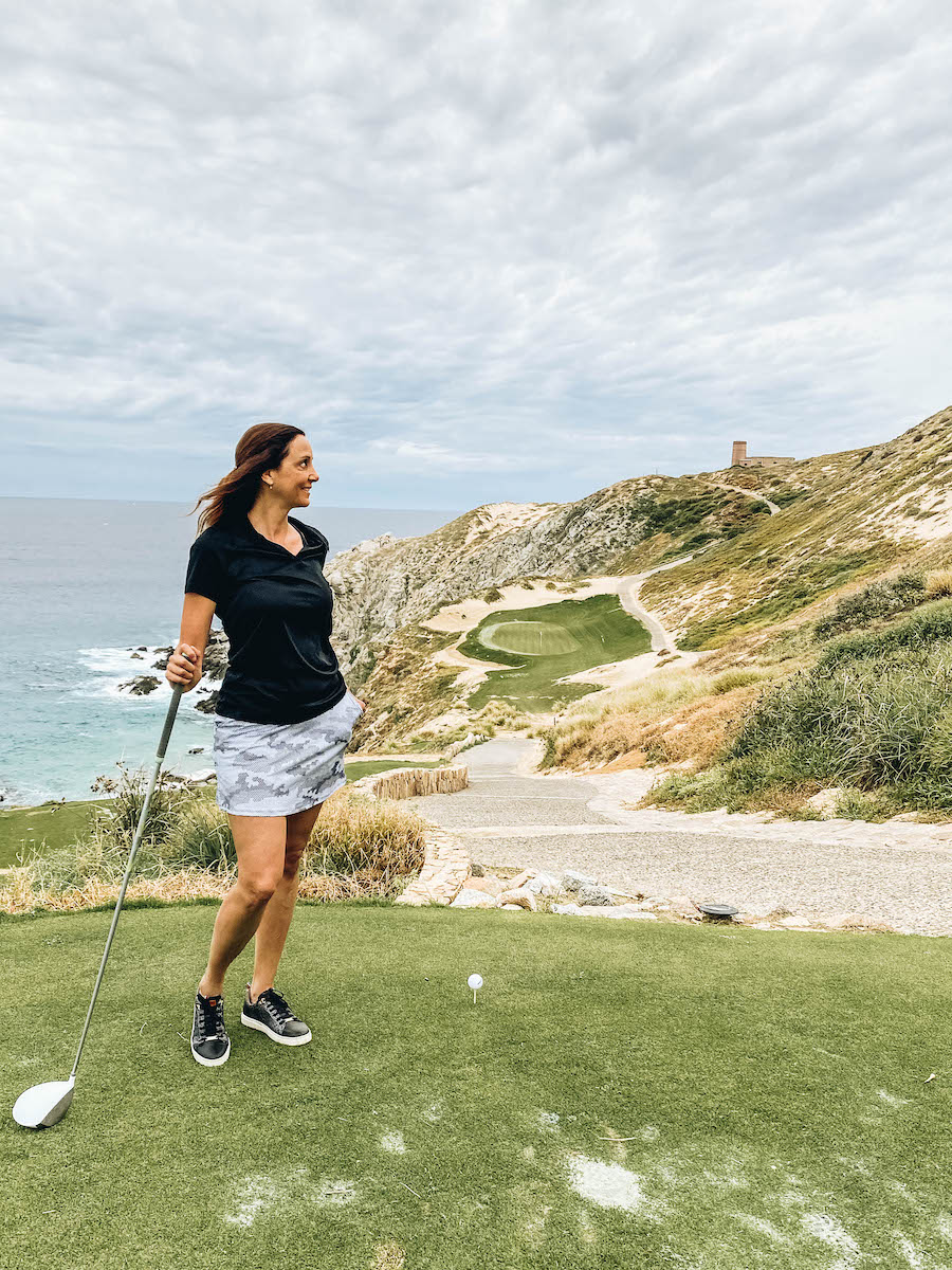Annette White at Quivira Golf Club & Course in Los Cabos, Mexico