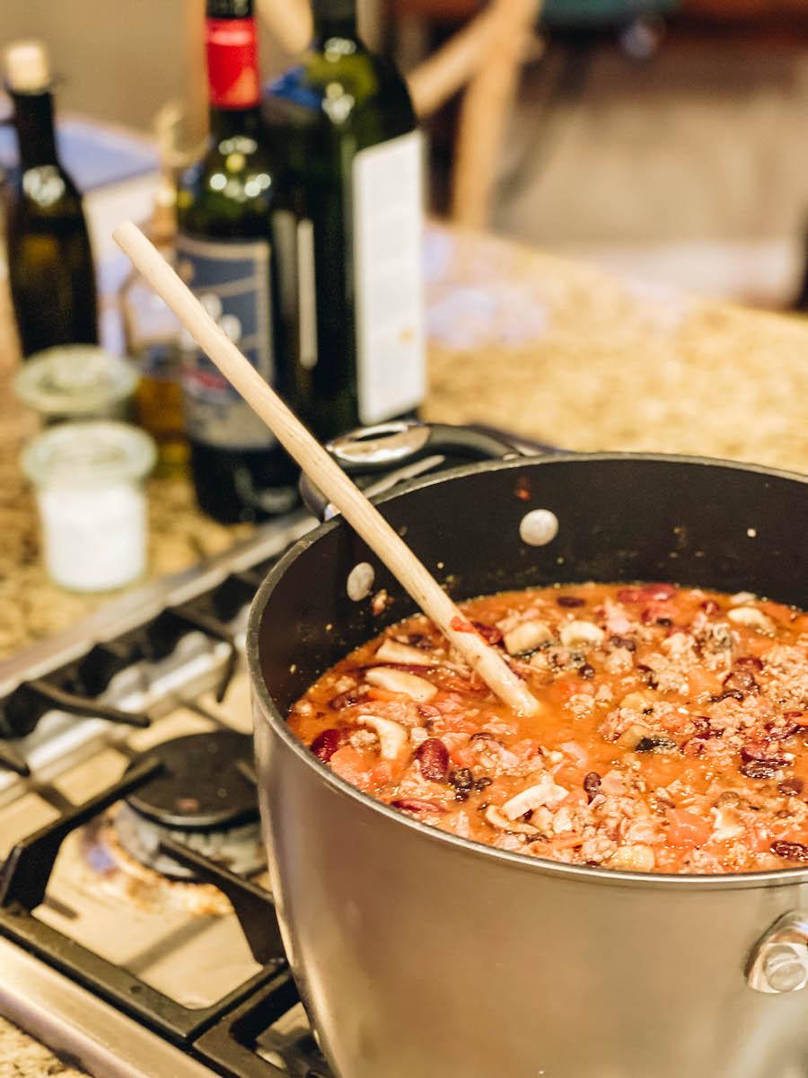 Beef & Mushroom Chili Recipe