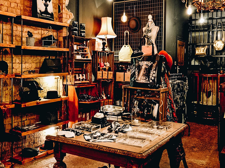 Interior of an Antique Shop with beautiful Antique items