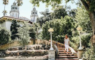 Annette White at Hearst Castle in San Simeon California
