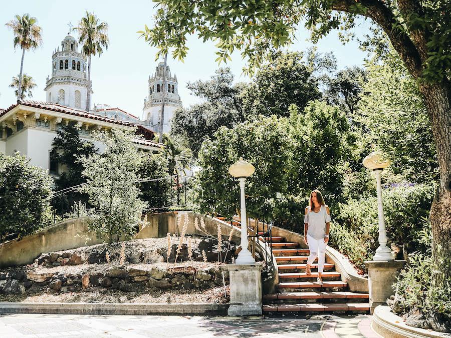 Annette White at Hearst Castle in San Simeon California