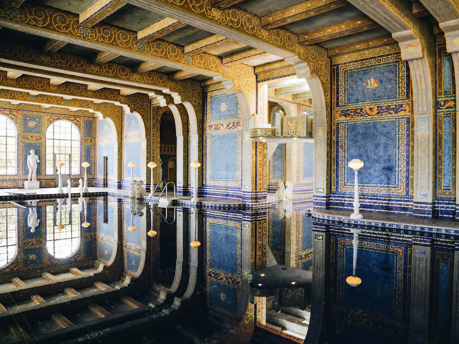 Indoor Pool at Hearst Castle in California