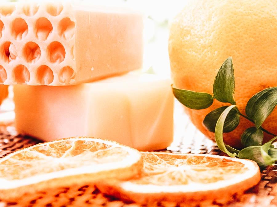 Orange scented soaps