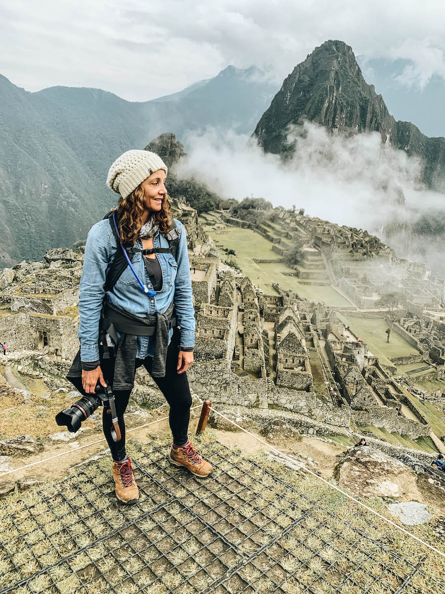 Annette on one of her travels on Peru