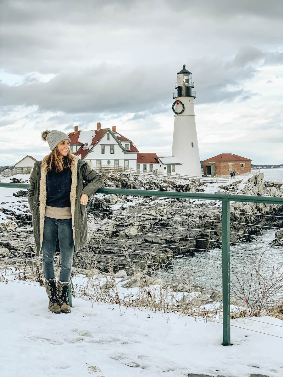 Annette on one of her travels on Portland Maine