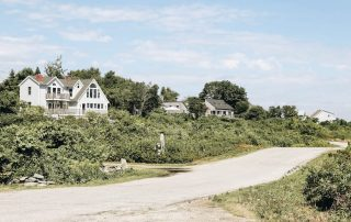 The streets of Peaks Island Maine