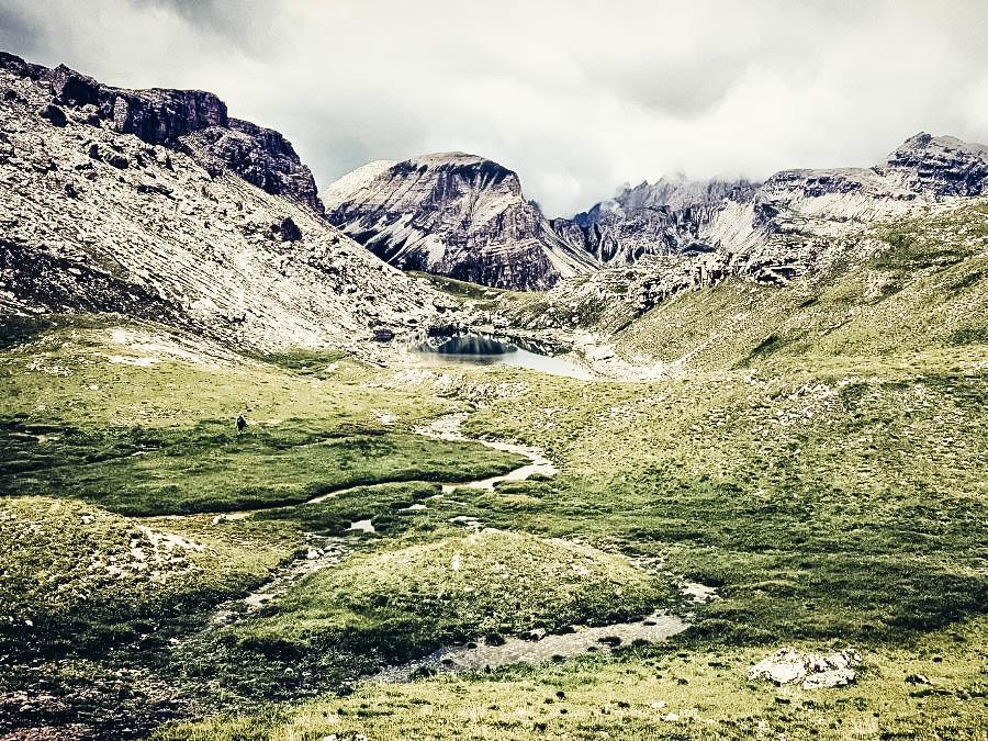 A view of Alta Via 2, Dolomites, Italy