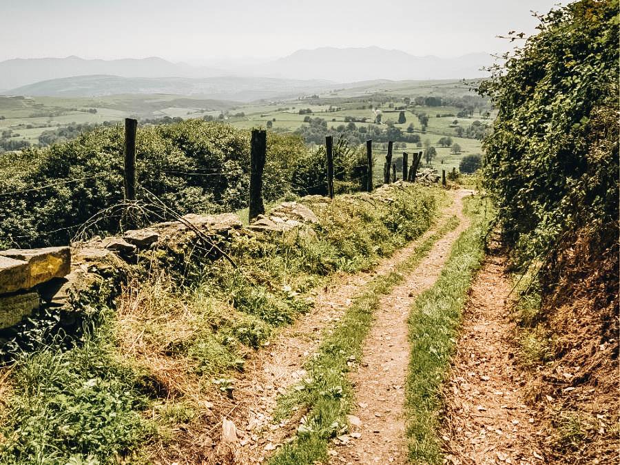 A view of Camino De Santiago in Spain