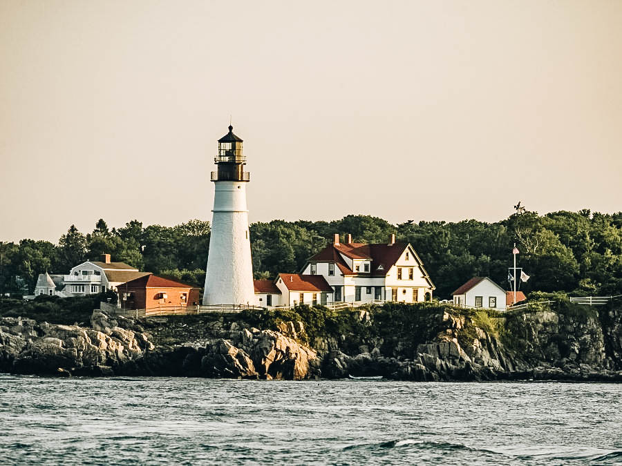A beautiful view of Cape Elizabeth Lighthouse