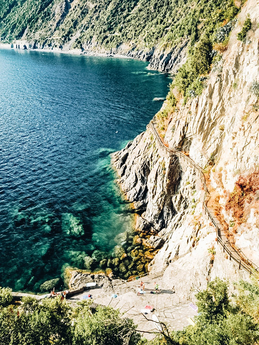 A view of Cinque Terre Hike, Italy