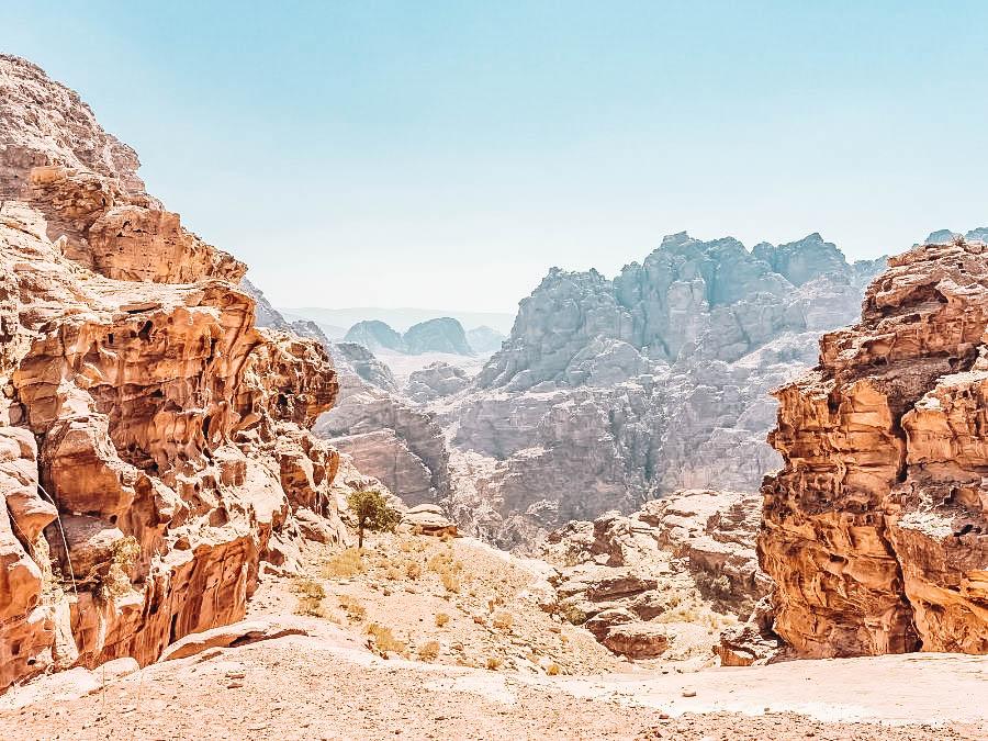 A view of Dana to Petra on the Jordan Trail, Jordan