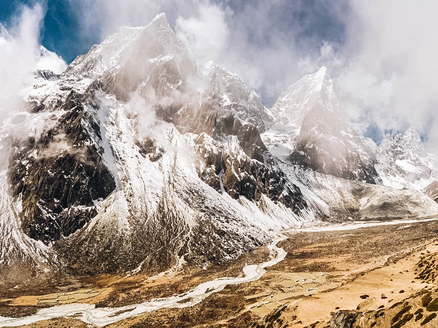 A view of Everest Base Camp, Nepal