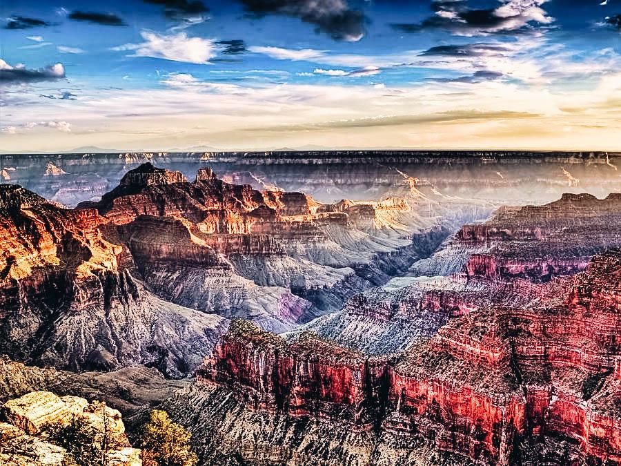 A view Grand Canyon Rim-to-Rim in Arizona USA