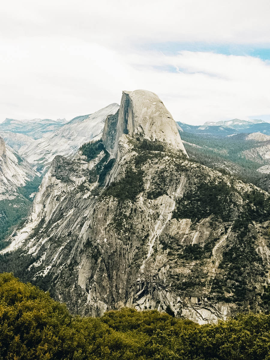 A view of Half Dome Yosemite National Park, California