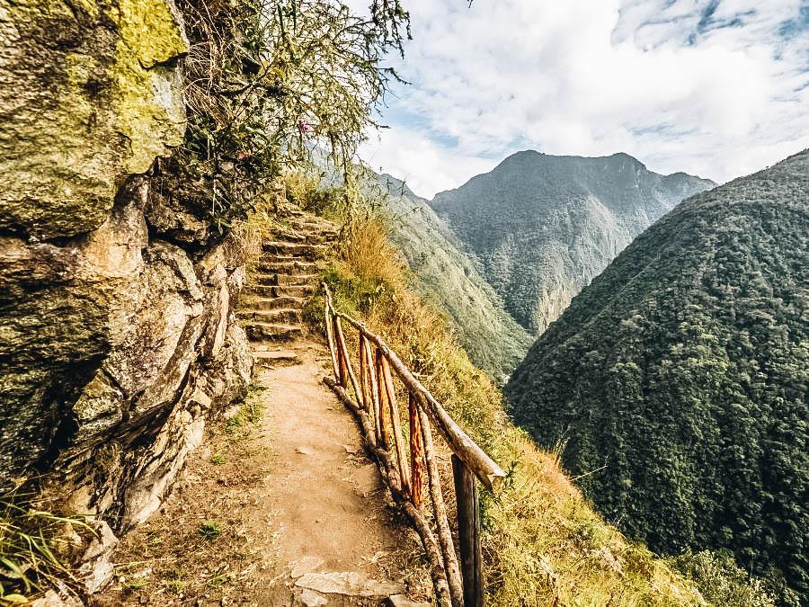 A view of Hiking Trail in Inca Trail, Peru