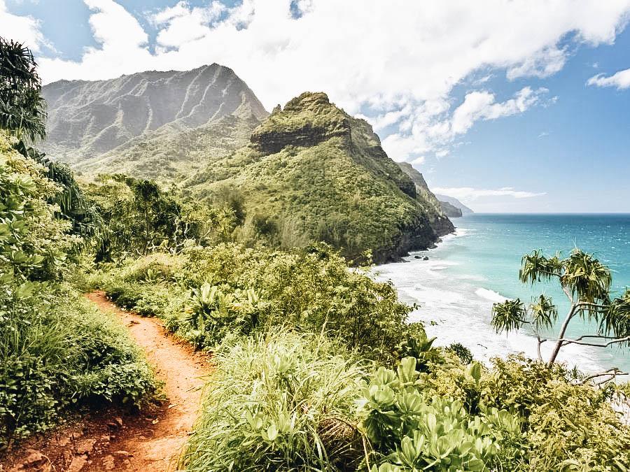 A view of Kalalau Trail Kauai, Hawaii