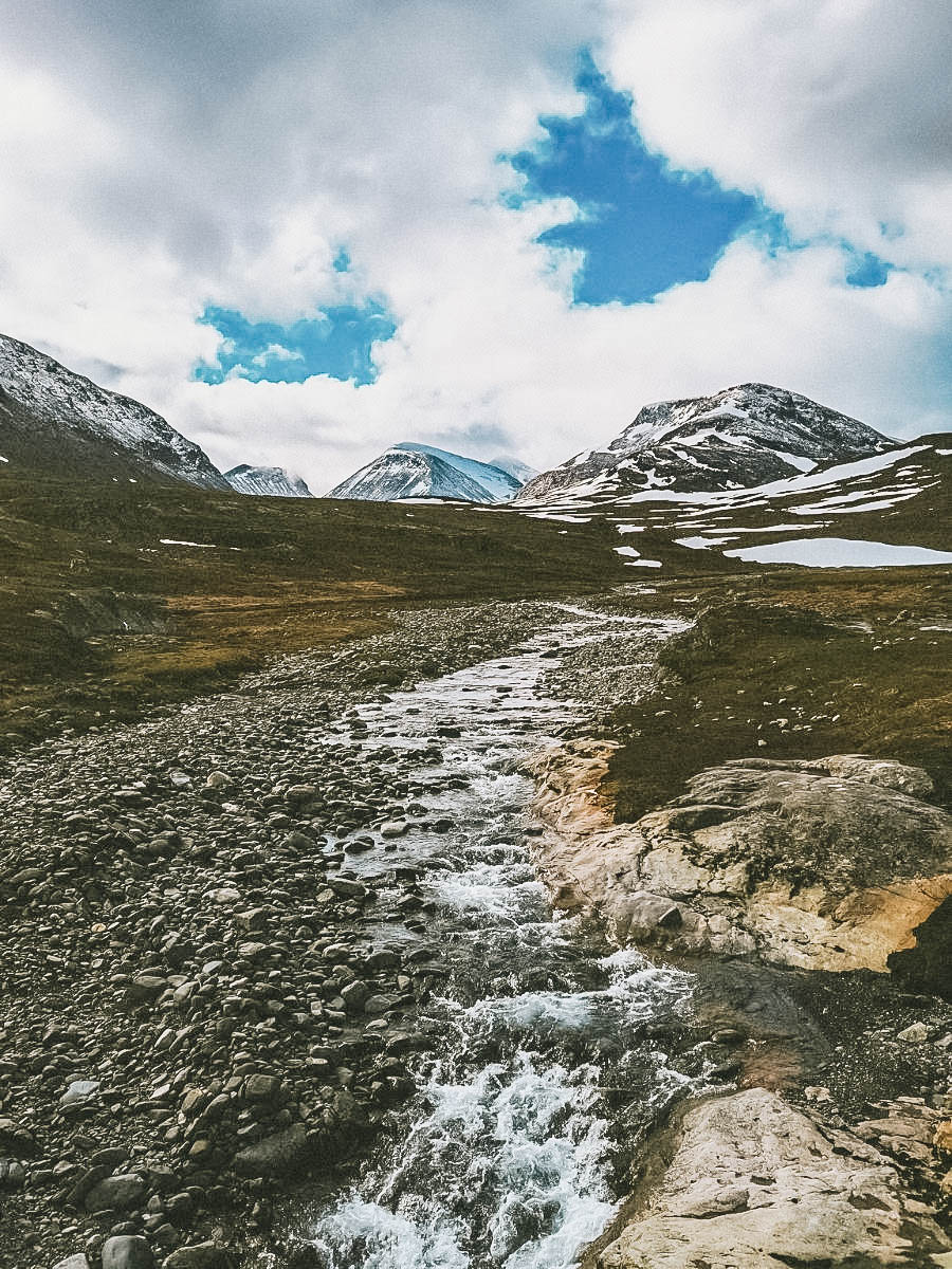 A view of Kungsleden (The King's Trail) Sweden