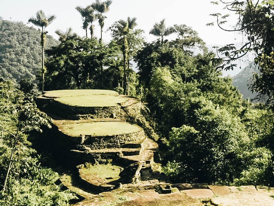 A view of La Ciudad Perdida (Lost City Trek) Colombia