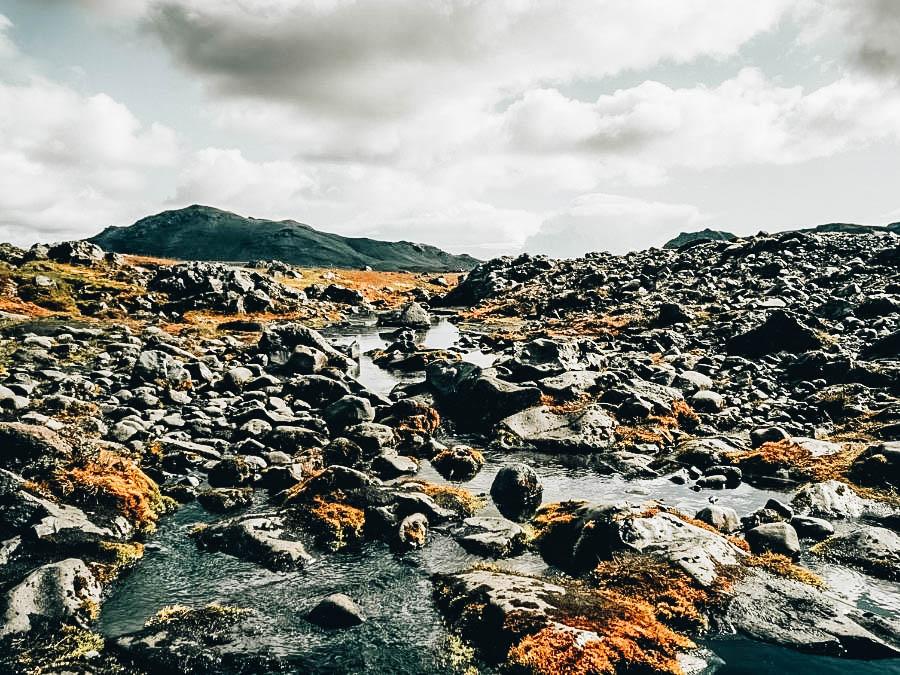 A view of Laugavegur-Skogar Trail, Iceland