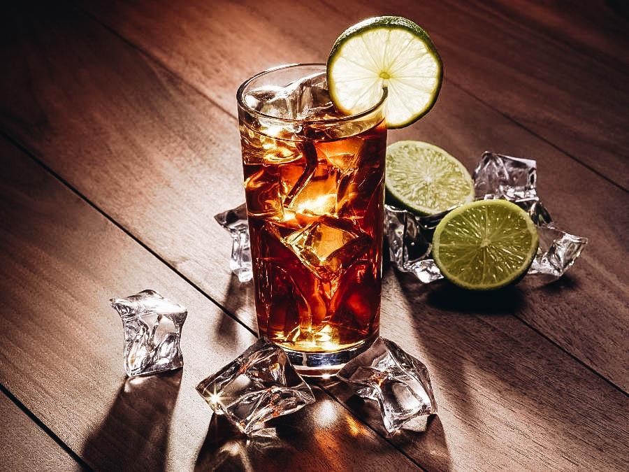 A glass of Long Island Iced Tea