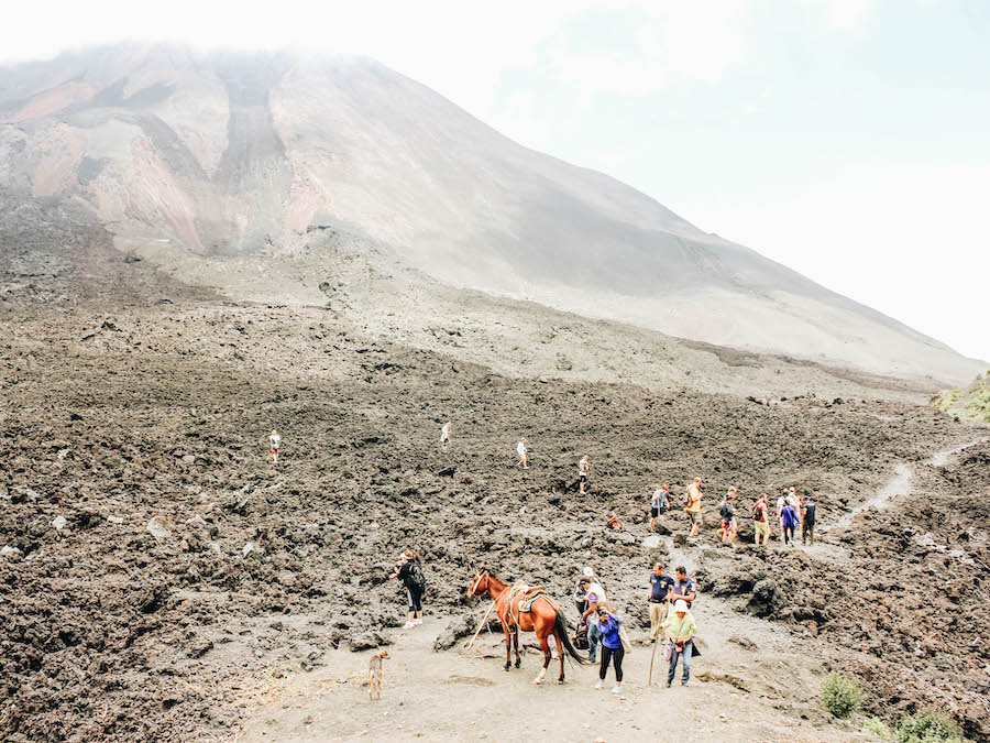 A view of Pacaya Volcano Hike in Guatemala
