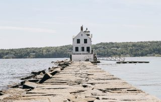A view Rockland Breakwater Lighthouse