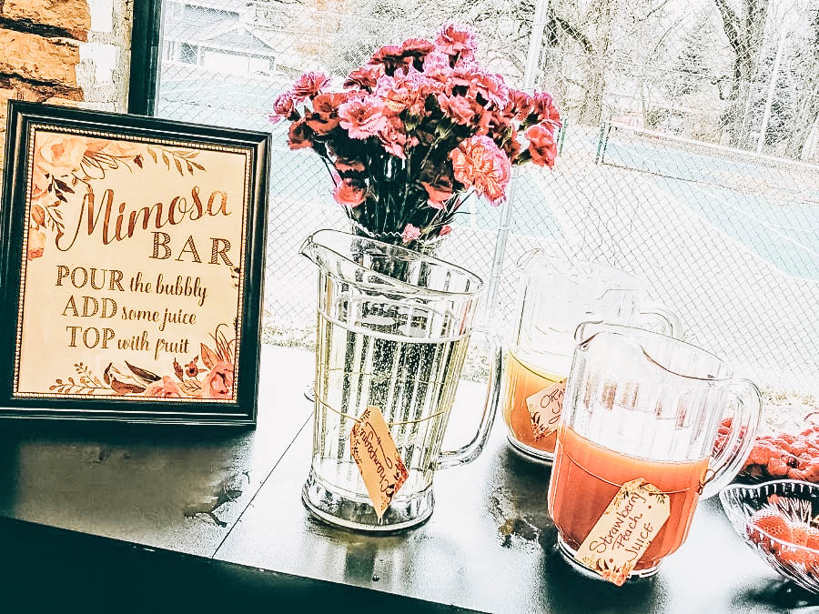 A Mimosa Bar set up near a window