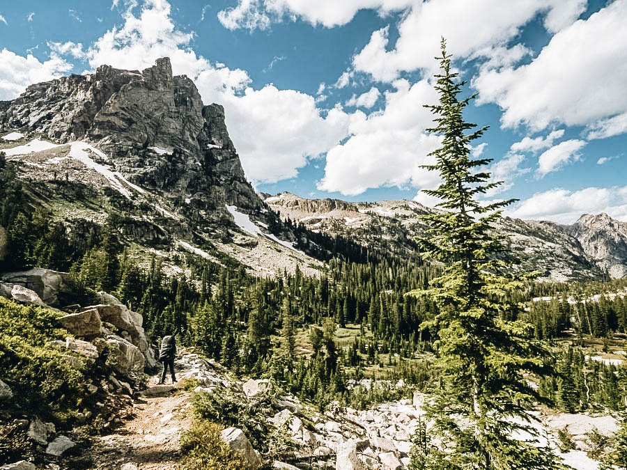 A view of Teton Crest Trail in USA