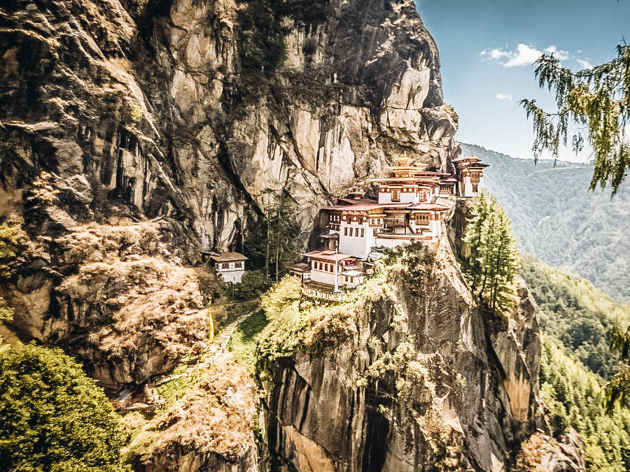 A view of Tigers Nest Hike Bhutan