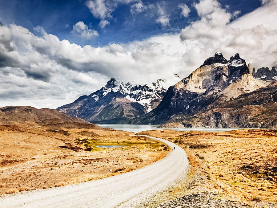 A view of Torres del Paine W Circuit Patagonia, Chile