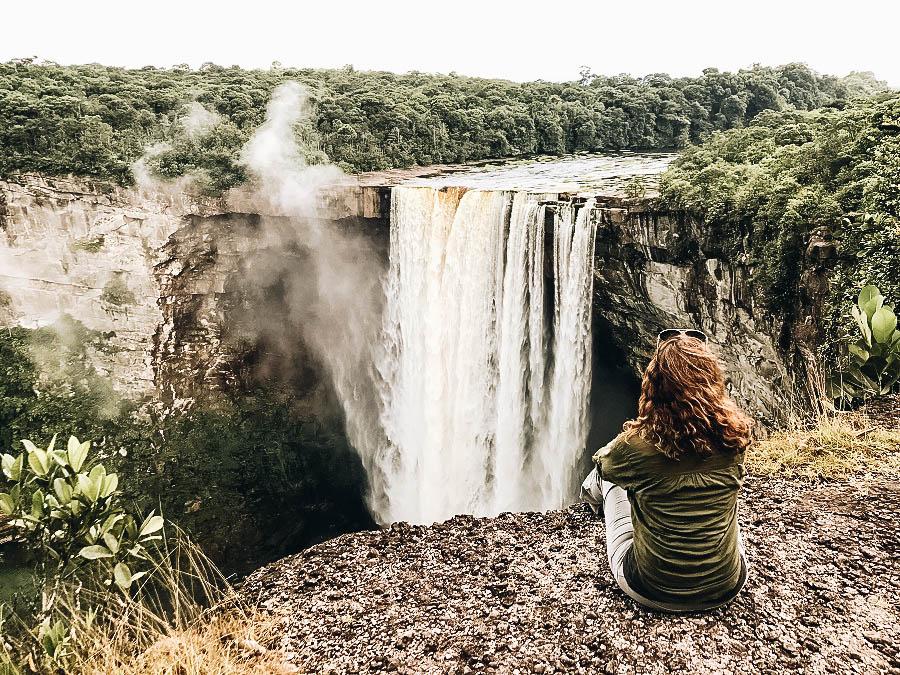 Annette at Kaieteur Falls in Guyana