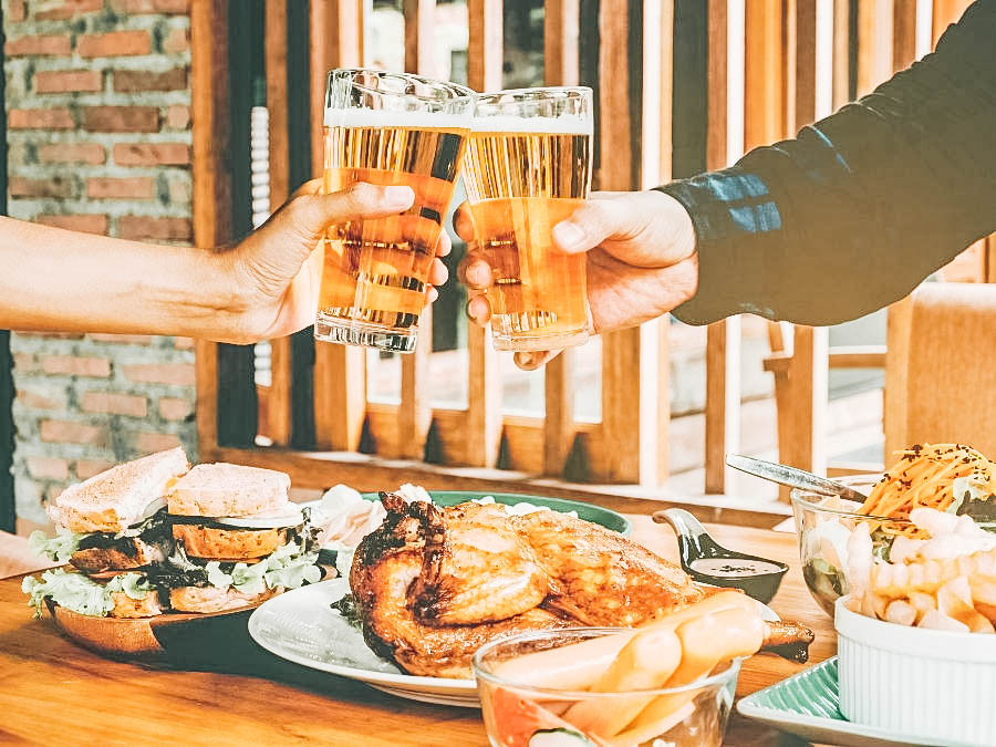 A beer toast and brunch