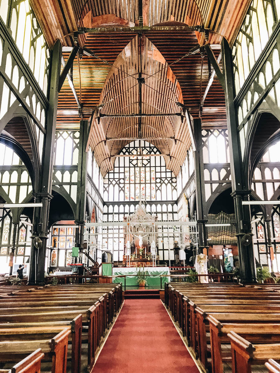 A photo inside Georgetown St. Georges Cathedral