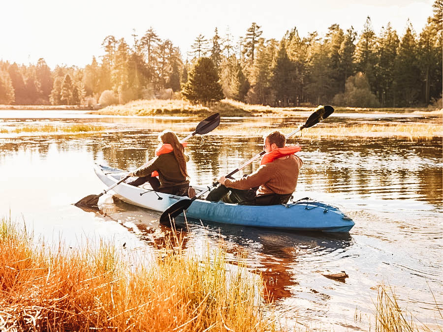 A couple on a kayak