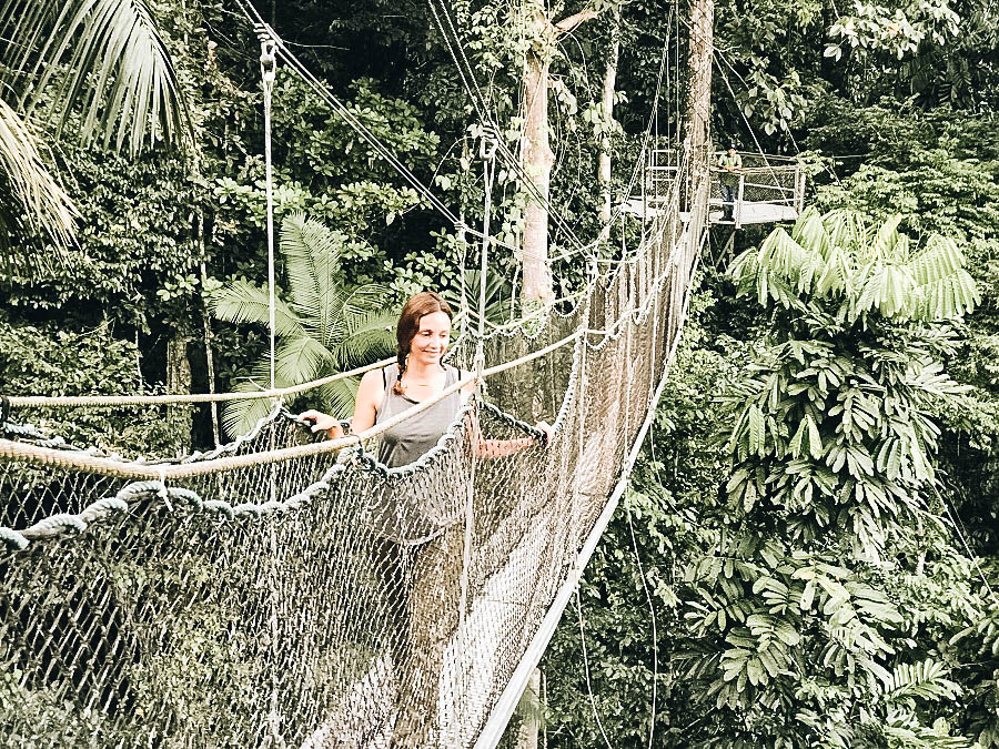 Annette trying the Canopy Walk