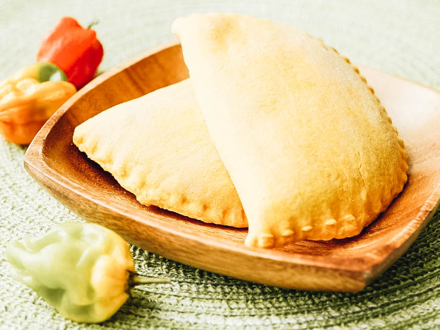 An authentic Jamaican Beef Patty